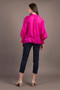 Малинова блуза в стилі бохо — 30038P