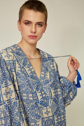 Блакитне плаття-вишиванка — 30102P