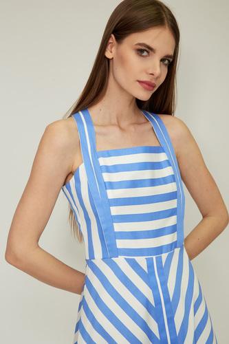 Біло-блакитне бавовняне плаття — 32062