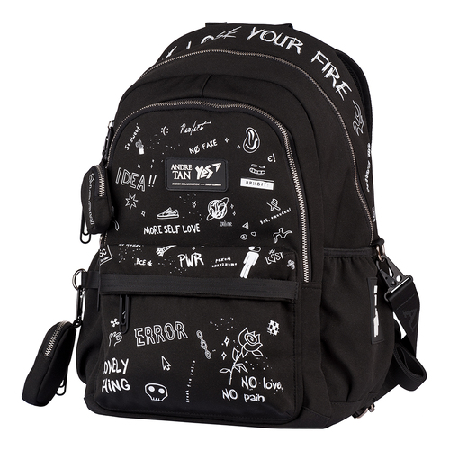 Рюкзак шкільний чорний ортопедичний — 558877