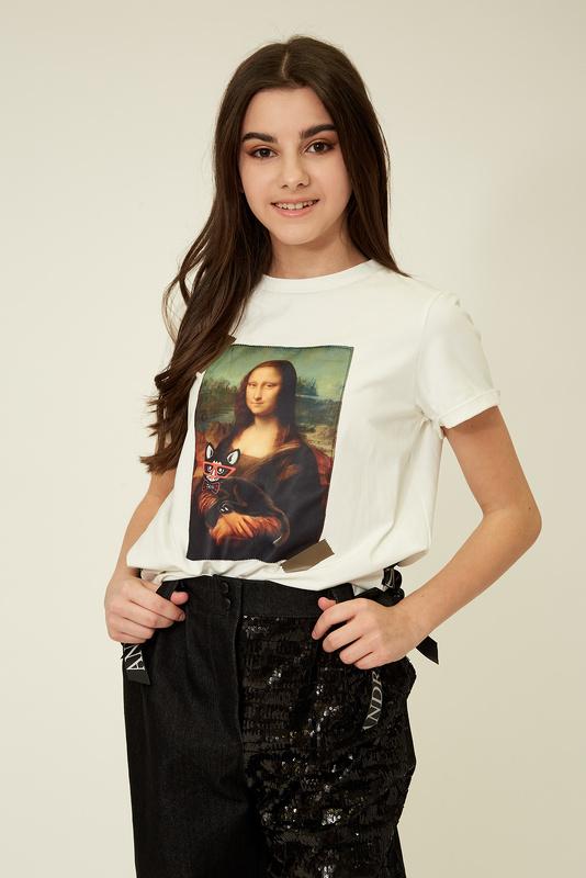 Дитяча футболка з принтом Джоконда — K60002