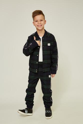 Зелена дитяча куртка-бомбер — K60008