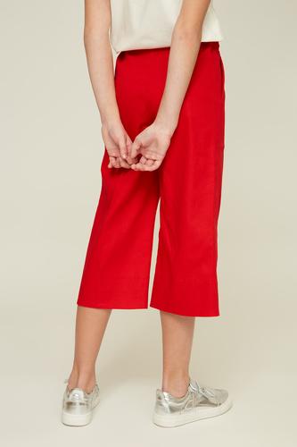 Червоні укорочені кюлоти на дівчинку — K60012