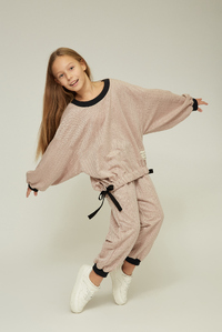 Рожеве худі з напускним рукавом на дівчинку — K60018