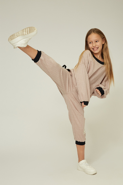 Рожеві спортивні штани на дівчинку — K60019