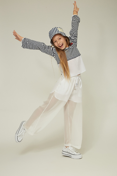 Білі легкі прозорі брюки на дівчинку — K60033