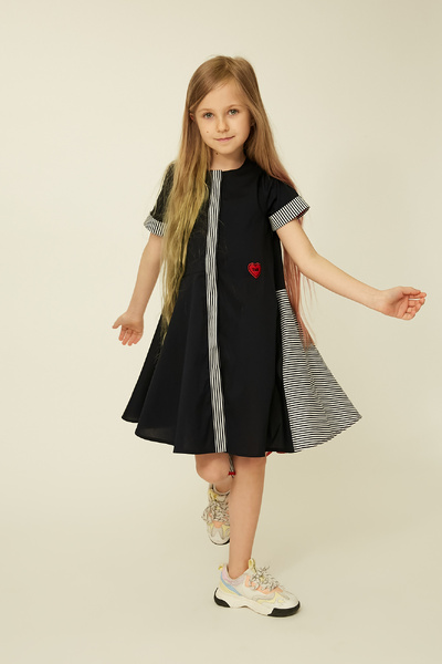 Темно-синє плаття на дівчинку — K60042