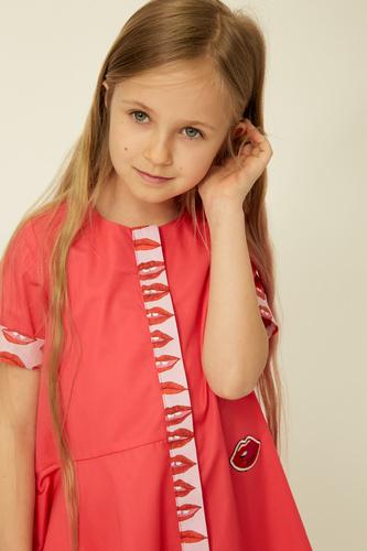 Малинове дитяче плаття на дівчинку — K60042