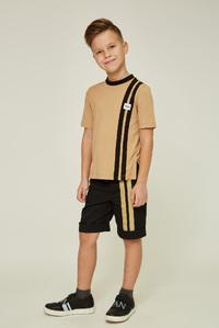 Футболка кольору тоффі на хлопчика — K60055