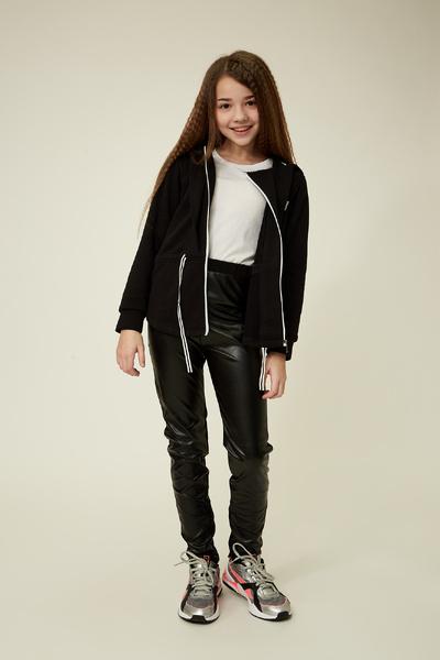 Чорне худі для дівчинки — K60058