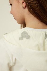 Худі молочного кольору для дівчинки — K60058
