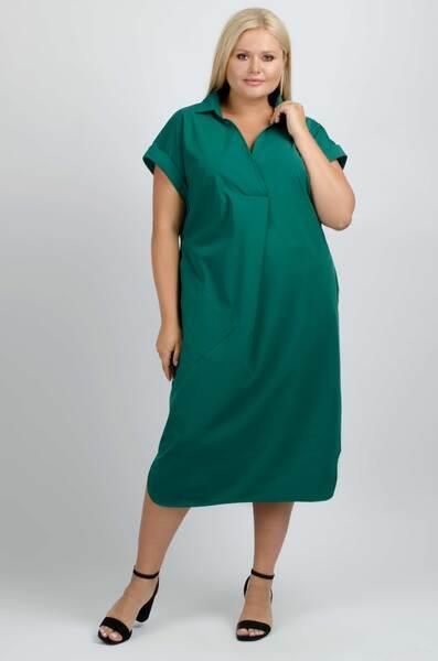 Зелена сукня-міді прямого крою — P30029P